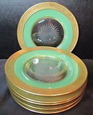 "Lenox Westchester Gold Motif 6 Crystal Salad Plate 8 1/2"""