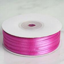 "50yds of Shocking Pink 1/8"" Double Face Satin Ribbon 1/8"" x 50yds"