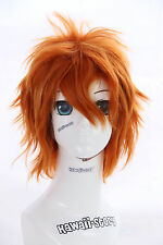 W-01-1002f naranja 35cm cosplay brevemente calor fijo Wig perrücke perruque anime manga