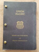 Dining Car Cookbook And Service Instructions Union Pacific Railroad vintage book