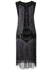 Vijiv Women's Flapper Dresses 1920s Gatsby Full Fringed Vintage Cocktail Dress