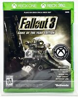 Fallout 3 Game of the Year Edition - Xbox One / Xbox 360 - New   Factory Sealed