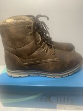 Cliffs by White Mountain Womens Keegan Closed Toe Ankle Fashion Boots Size 10.5