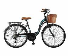 28 Zoll Citybike Stadtrad 21 Gang Shimano Schwarz Blau