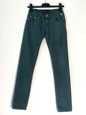 Ladies Daysie Premium Denim Straight Jeans UK Size 6 W24 L31 Green