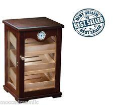 The Milano Dark Mahogany Counter Cigar Top Display Humidor External Hygrometer