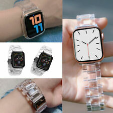 Transparent Resin Band iWatch Strap Bracelet For Apple Watch Series 5/4/3/2/1