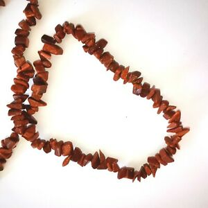 Gold stone chips 40 cm strand. 0.4mm hole, chip sizes 8-3mm