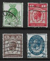 SG434-437.  1929 PUC Low Values Set Of 4.  Fine Used.  Ref:07122