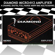 DIAMOND AUDIO MICRO4V2 4-CH. AMPLIFIER 600W RMS MULTICHANNEL FULL RANGE CLASS D