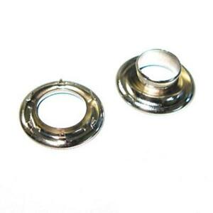 #2 Nickel Spur Grommets Nickel Plated Solid Brass Hardware - 10 Pack