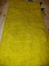 bathroom mat set in bright lime green, bath and pedestal