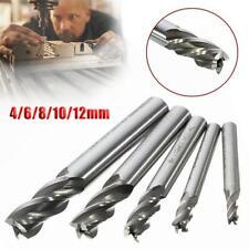 5Pcs HSS CNC Straight Shank 4 Flute End Mill Cutter Drill Bit Tool 4/6/8/10/12mm