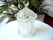 Heisey Prison Stripe Clear Sugar Bowl and Lid Signed 1904 - 1909