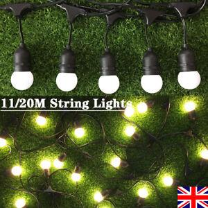 Commercial Grade Indoor Outdoor Mains Power G45 String Lights Gazebo Light Chain
