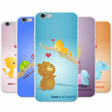 Animals Pairs Love Is All Around Snap-on Hard Case Phone Cover for Apple Phones