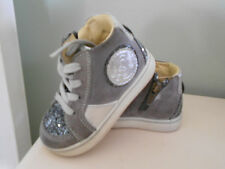 PRIMIGI High Top Sneakers Gray Silver Sparkles Leather Toddler EUR 20/US 4.5