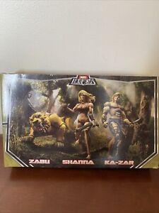 Marvel Legends SDCC The Savage Land 3 Figure Set Zabu, Shanna, Ka-Zar New