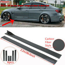 """Universal Fit For Ford Focus Fusion Carbon Fiber 86.6"""" Side Body Skirt Extension"""