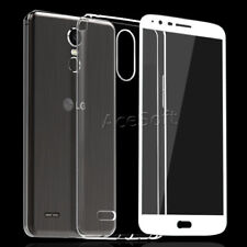 Full Coverage Screen Protector Clear Case for Straight Talk LG Stylo 3 LTE L83BL
