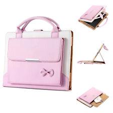 For iPad Mini 4 Luxury Pink Smart Sleep Wake Case Leather Handbag Stand Cover