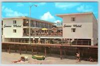 SEANO MOTEL ON THE BEACH*BOARDWALK*OCEAN CITY NEW JERSEY*VINTAGE POSTCARD