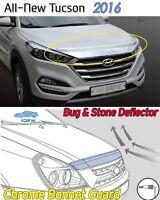 Bonnet Hood Guard Chrome Garnish Deflector K861 Ems for Hyundai Tucson 2016~2020