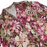 Laura Ashley Women 3X Button Up Blazer Multi-Color Long Sleeve Floral Print 08B