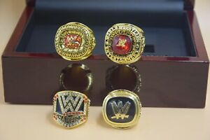 4 Pcs Set 2004 2008 2015 2016 WWE Hall of Fame Championship Ring !--