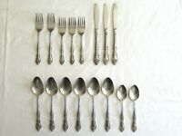 Vintage Rogers Co Stainless Korea Taiwan Dream Rose Flatware 16 pieces Mixed Lot