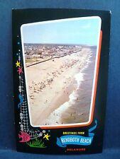 Postcard DE Rehoboth Beach Airview of Beach & Houses Greetings
