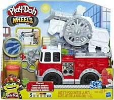 Play-Doh Wheels Red Fire Truck Toy with 5 Non-Toxic Colors and Accessories