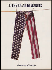 Lucky Brand Dungarees print ad 1995 red white & blue jeans