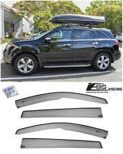 For 07-13 Acura MDX JDM MUGEN Tape-On SMOKE TINTED Sun Shade Rain Deflectors