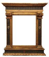 ANTIQUE 19TH CENTURY POLYCHROME GILT TABERNACLE FRAME, Italian Renaissance-Style