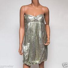 Stella McCartney Gold Silk Metallic Strapless Dress $1,995 IT 40 Small