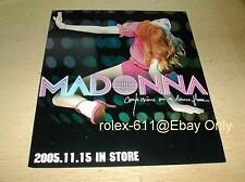 Madonna The Confessions On Dancefloor 2005 Taiwan Promo 2 DM Card & Necklace CD