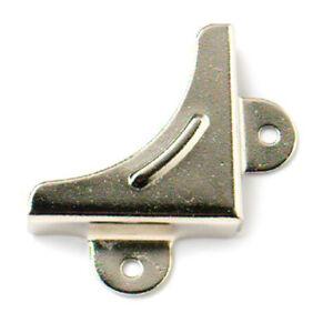 Merriway® BH00074 Nickel Plated Mirror Corners - Pack of 8
