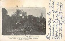 California Redwoods Tree Stump Arcata, CA Logging 1907 Ericson Vintage Postcard