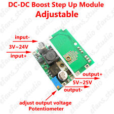 DC-DC Boost Step up Adjustable Converter 3-24V to 5~25V 12V Power Supply Module