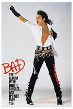 King of Pop: Michael Jackson * Bad * Promotional Poster Circa 1987