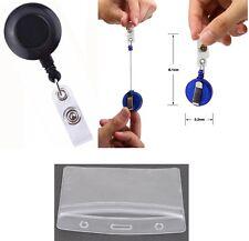 Attache enrouleur rétractable avec clip ceinture + porte badge - NEUF