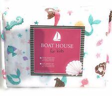 Boat House Kids Twin Mermaid Sheet Set New