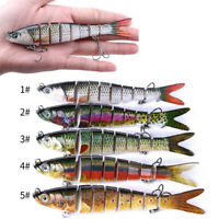 8 Section Fishing Lures Sinking Wobblers Multi Jointed Swimbait Pike Lure Hard