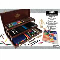 Royal & Langnickel Deluxe Beginner Artist Sketch And Draw 134pc Art Set