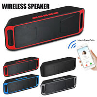Car Bluetooth Speaker Portable Mini Indoor/Outdoor Bass Stereo Player TF FM AUX