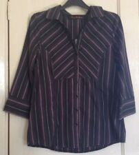 Evie Collection Women's Black and Pink striped shirt size 12