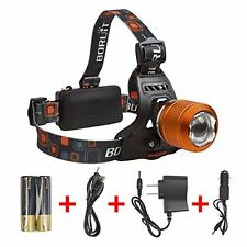 Rechargeable Zoomable Led Headlamp (Gold) for Running & Hunting by Boruit