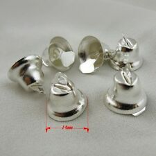 36847 Silver Tone Metal Christmas Jingle Bell Craft Bell Finding Charm 100pcs