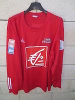 VINTAGE Maillot COUPE DE FRANCE porté 15 rouge ADIDAS Caisse d'Epargne shirt XL